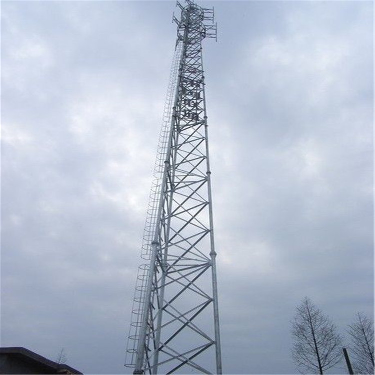Galvanized 3 legs self supporting cell tower steel pipe communication tower