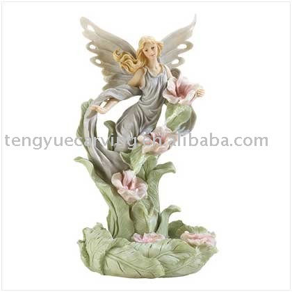Indoor polyresin angel fountain