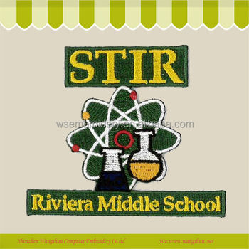 Custom Applique Embroidered Letter Patches/badge For School ...
