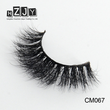HZJY CM067 3d Mink Private Label Eye Lashes False Eyelashes Cross