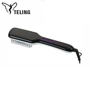 No Battery Low Powered Woman Use Electronic Fast Heating Hair Brush Straightener Hqt-906