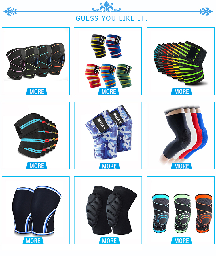 Factory Directly Supply Silicon Elastic Knitted  Knee Support