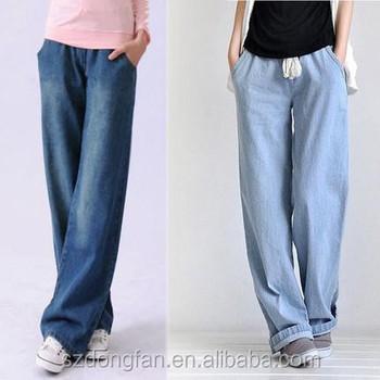 lowest discount quite nice many fashionable Vente Chaude Femmes Été Baggy Pantalon De Denim Large Jambe Pantalon De  Survêtement Jogger Jeans Pour Femmes - Buy Jean Baggy Jambe Droite Pour ...