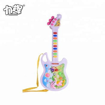 Funny Electric Animal Guitar Toys Baby Toys Children Button Animal