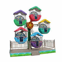 outdoor amusement rides trailer mounted 12 kid rides mini ferris wheels for sale