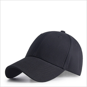 High quality 6-panel sports 100% cotton solid plain custom blank baseball cap