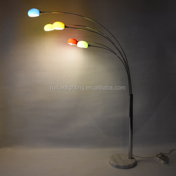 Marble base metal arc floor lamp with 5 arms glass shade buy marble base metal arc floor lamp with 5 arms glass shade aloadofball Choice Image