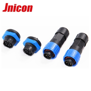 IP67 panel female waterproof connector M16 xlr connector panel mount 3 pins