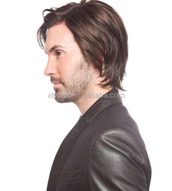 High quality natural hair wig pu human hair mens toupee hair wigs for men  price for 470ab8e0a