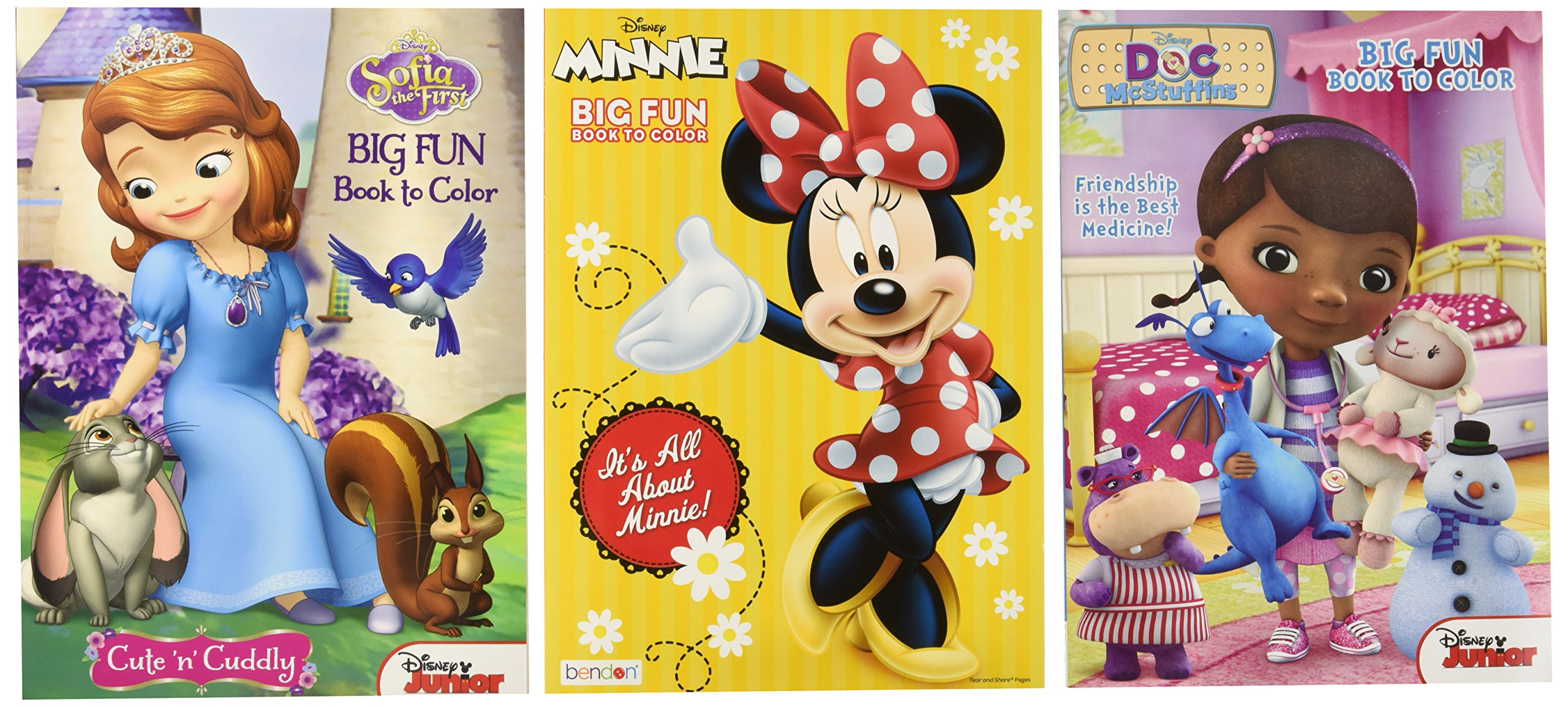 Get quotations · disney coloring and activity book assortment 3 full sized coloring books 96 pgs