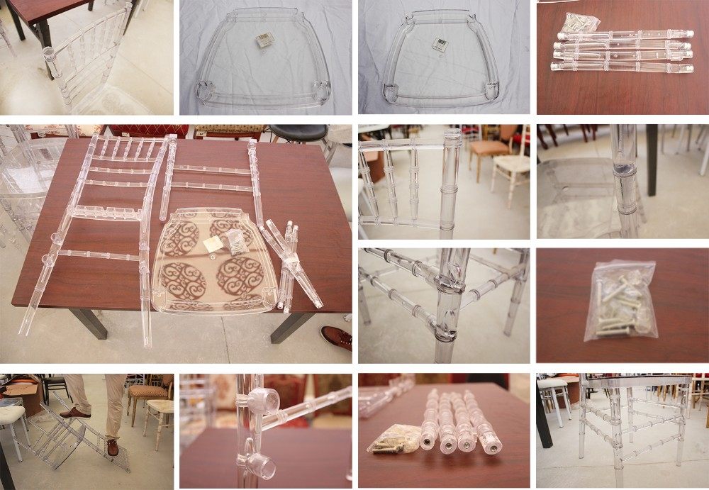 crystal ice resin clear polycarbonate transparent wedding reception party hotel event tiffany modern phoenix chair