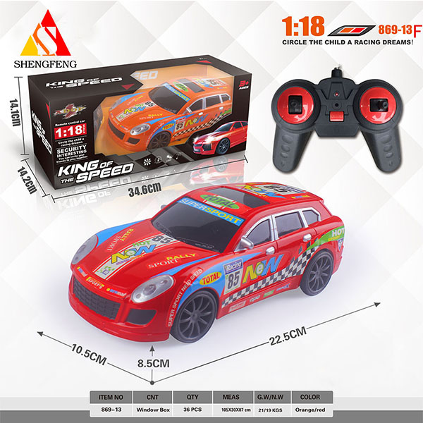 Alibaba hot sale rc toy remote control car 1:18 4channel speed racing car