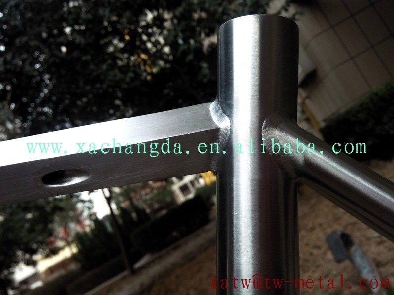 titanium road bicycle frame with diamond shape tube titanium cyclocross frame with special shape tube