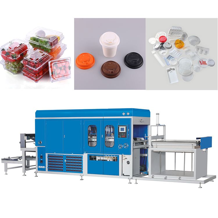 Multi full automatic fast food box plastic vacuum forming machine thermoforming machine