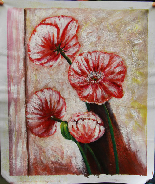 pintura de la flor diseos de trajes de de la lona pintura al leo