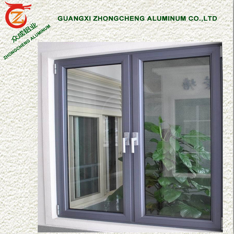 Inward opening heat reflective double glass aluminum for Buy casement windows