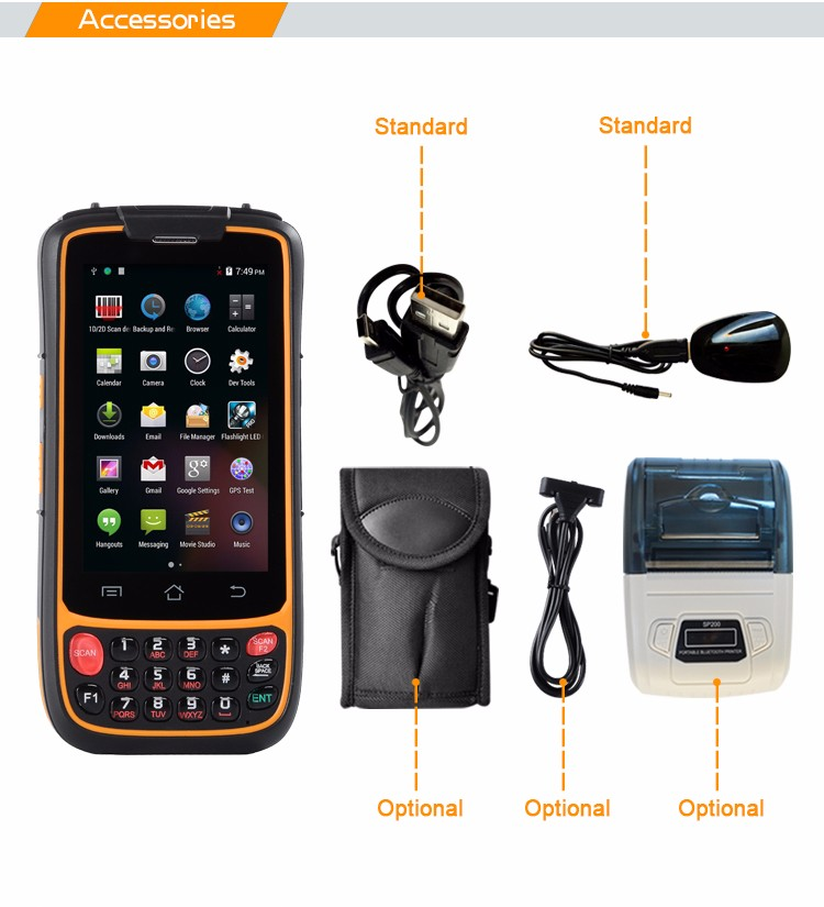 Rugged Ip 65 H941 Pda With Honeywell Barcode Scanner Android Pda ...