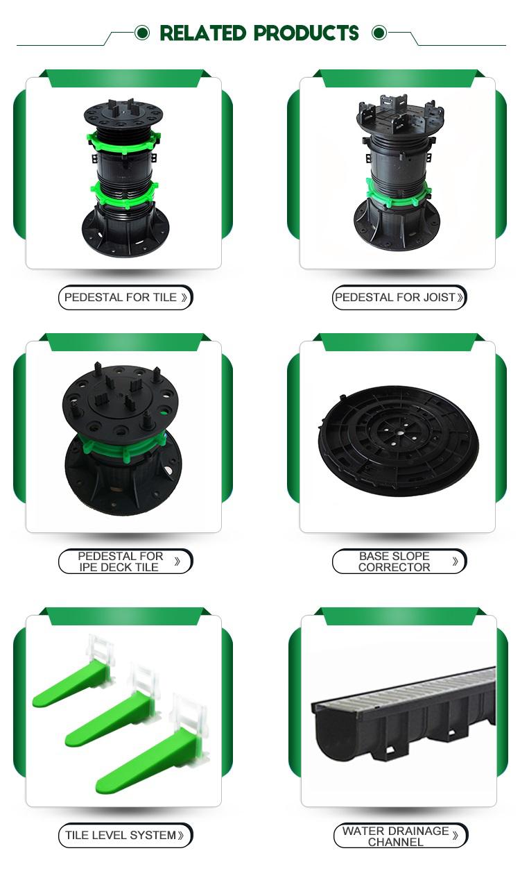 Ajustável pedestal telha piso de plástico sistema de apoio (MB-T0-E 90 MM-180 MM)
