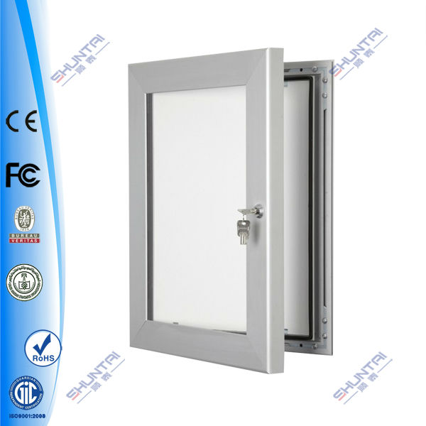 waterproof LED aluminum lockable photo poster frame