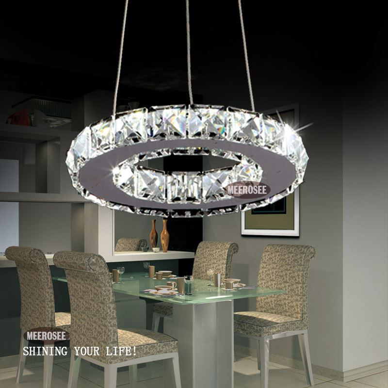 Large Crystal Ring Chandelier