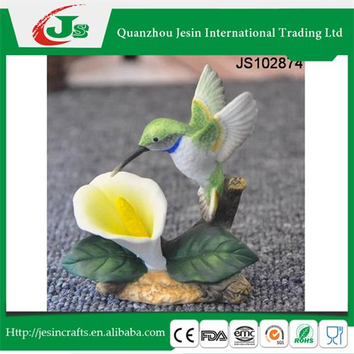 Resin bird and flower decoration, for Spring decoration