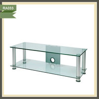 led tv wall unit glass racks wall wooden group of benches for room RA033