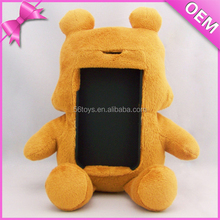 2017 Promotional cute panda plush toy mobile phone holder cheap soft stuffed animal cell phone holder