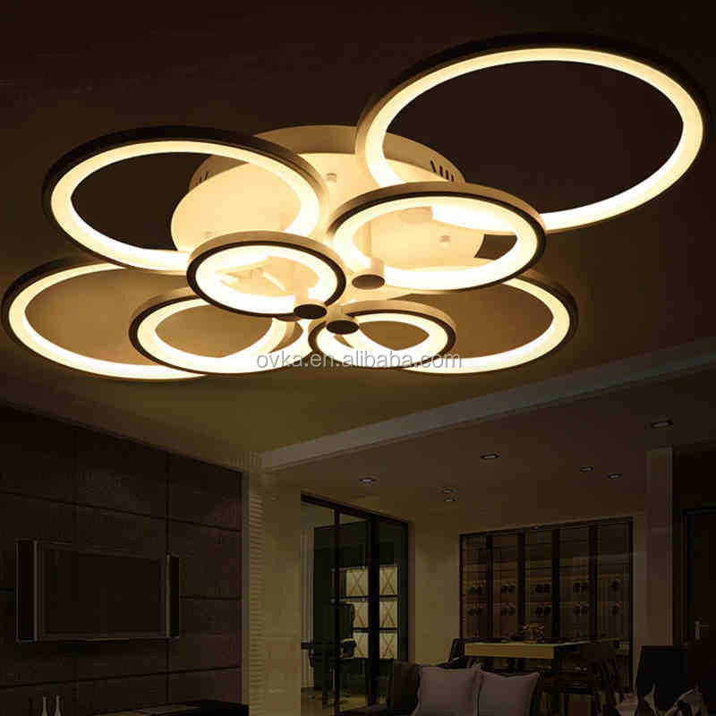 Modern Dimmable By Remote Control Led Acrylic Ceiling Lights For ...