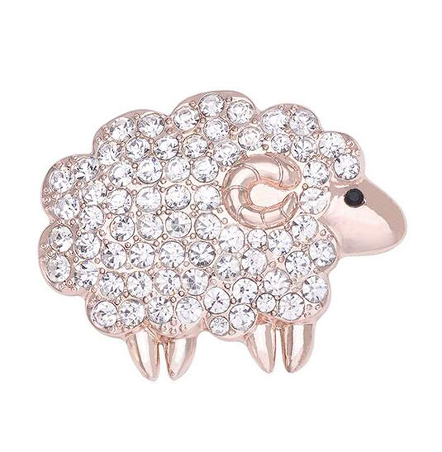 Zmdnys Prime Deals Sheep Brooch Jewelry Fashion Women Alloy Crystal Brooch Pins