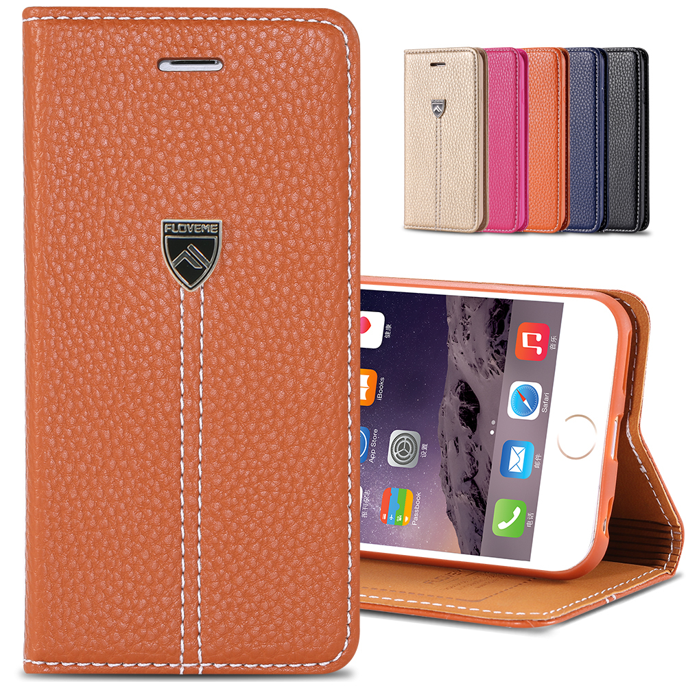 """huge selection of b9b70 d26ea High Quality Luxury XD Brand Flip Leather Case for iphone 6 4.7"""" Original  Phone Bag Cover for iphone6 With Metal Logo YXF04386"""