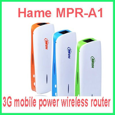 Hame 3 in 1 MPR-A1 3G Wireless Router + Mobile power supply ,MINI Wireless Router,3G WIFI