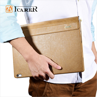 ICARER Shenzhou Real Leather Detachable Flip Case Cover for Microsoft Surface Book