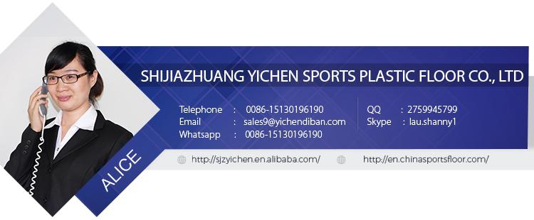 pvc sportvloeren in roll tafel tennisbaan mat/draagbare tennisbaan sportvloeren