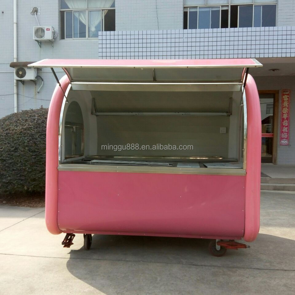 Mobile Display Cabinet Hot Food Display Cabinets Juice Machie Mobile Snack Cart Food