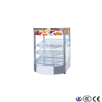 High-quality heating food electric heater glass display cabinets