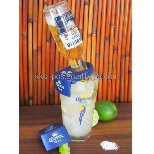 CoronaRita Corona Bottle Holders for Schooner & Goblet Glasses - 6 Plastic Clips