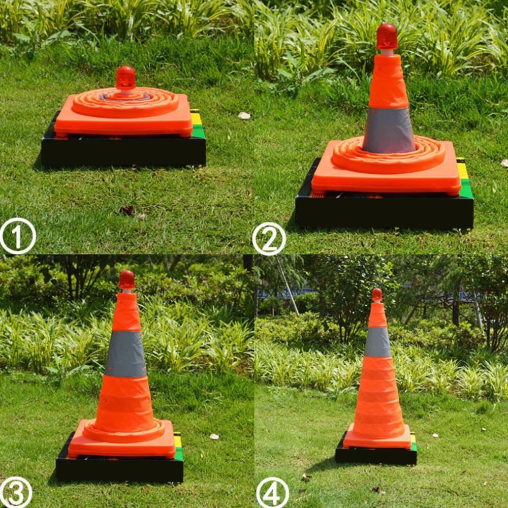 Collapsible Traffic safety Cones with LED Light