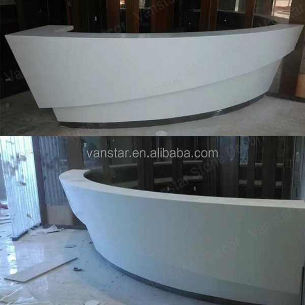 OEM Artificial Marble Stone Spa Furniture Reception Desk