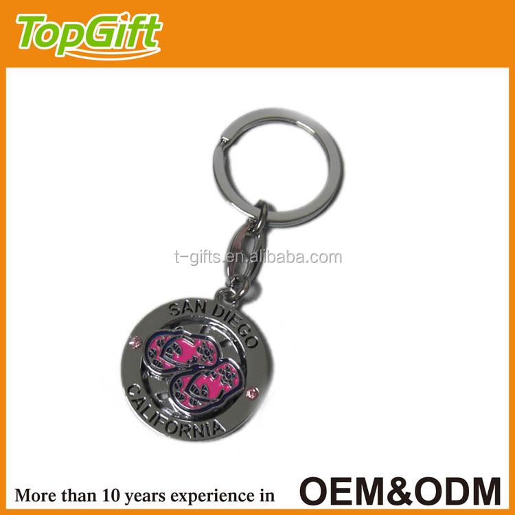 Free Sample Custom Cut Out Metal Keychain For California Souvenir ...