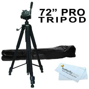 Pro 72 Super Strong Tripod With Deluxe Soft Carrying Case For Sony DEV-3, Sony DEV-5 Digital Recording Binoculars