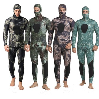 MYLEDI Neoprene 3mm Super Stretch Camouflage Fullsuit for Freediving Snorkeling Swimming Spearfishing Wetsuit