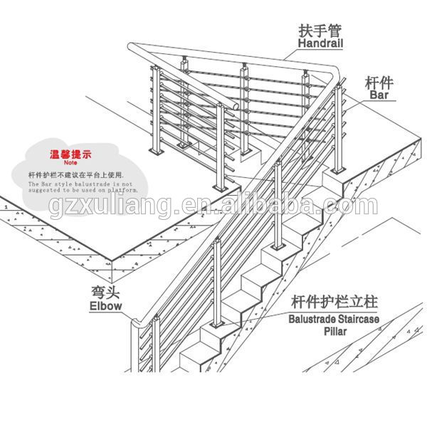stainless steel balustrade tair railing handrail, View balustrade, XULIANG  Product Details from Guangzhou Xuliang Decoration Engineering Co , Ltd  on
