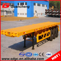 flat bed trailer skeleton trailer 40ft container chassis trailer with good price