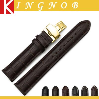 Часы ремешок ремешок хлопка-ватник желтый золотой бабочка пряжка ремешок для часов 12 13 14 15 16 18 19 20 21 мм 22 мм кожаный браслет для Locman