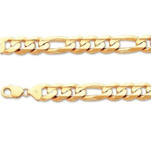Italy 14k Gold Chains Regular Figaro 400 24 Inches In Length Width