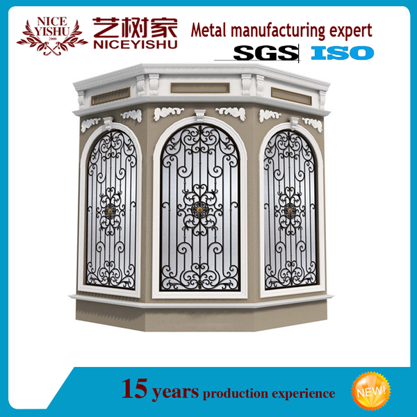 Chinese price sliding window iron grill simple steel for Window design metal