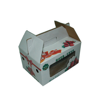 Wholesale custom corrugated cardboard box for fruit paper carton