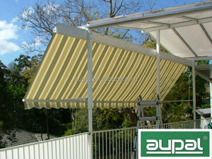 Luxury half cassette shipping container awning(manual)