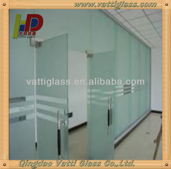 Frameless Folding Glass Doors Interior Frosted Bathroom Door Soundproof
