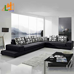 latest new design modern sofa set,home furniture luxury fabric corner sofa for living room